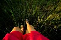 Pink skirt and the marsh