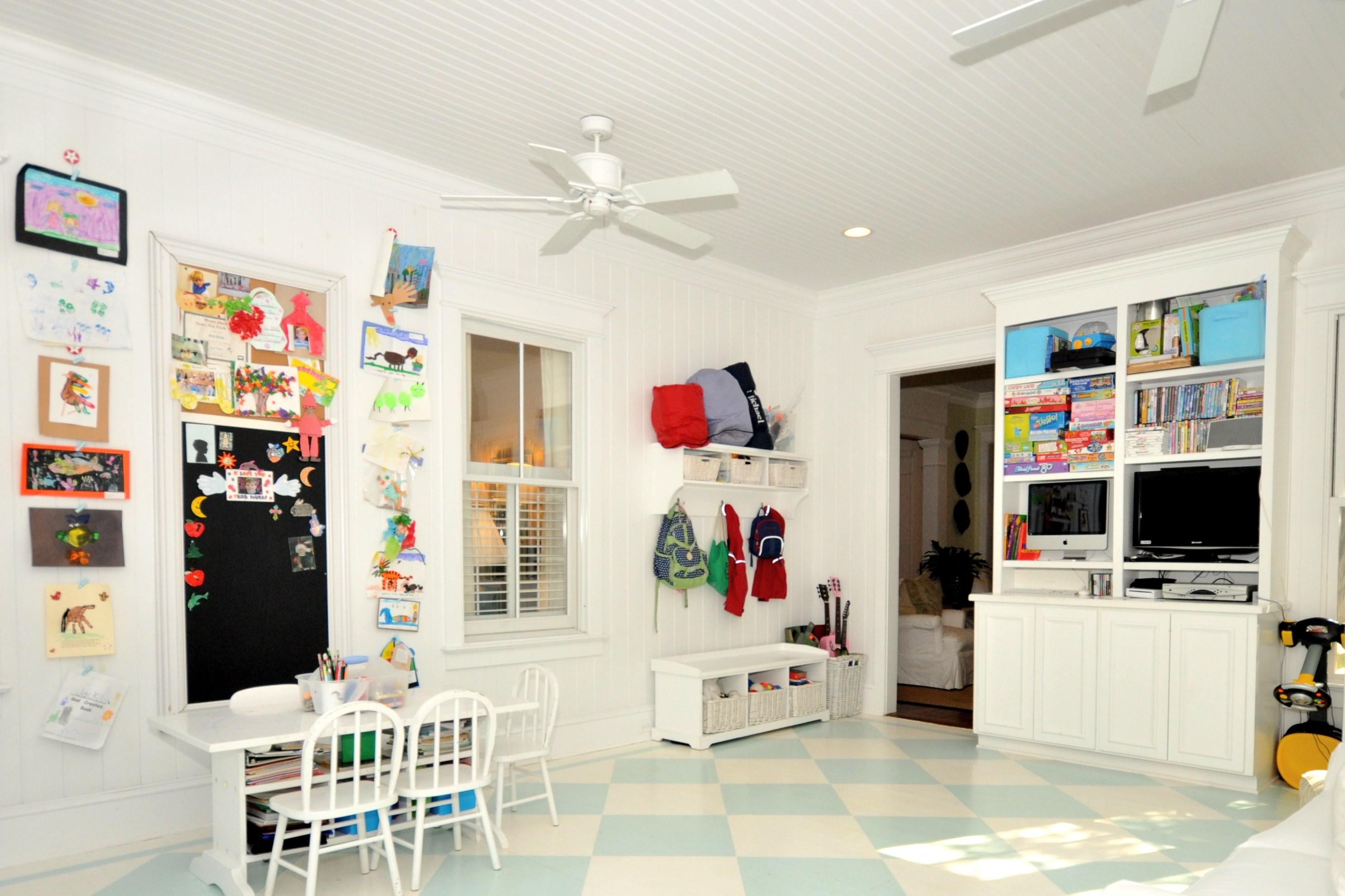 Playroom: Porch: Sunroom Turned Playroom