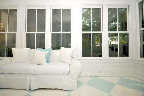 porch furniture in sunroom