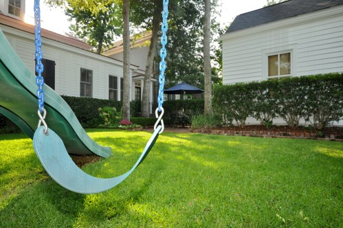 Backyard swing set in Charleston SC