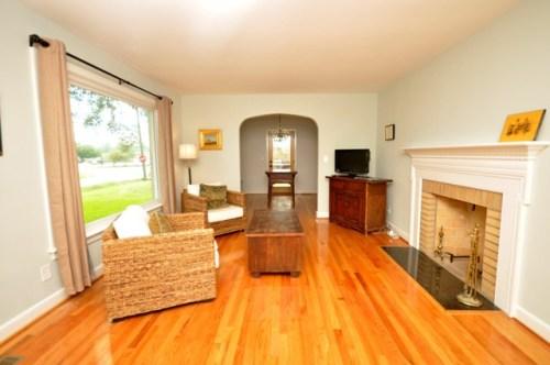 Sparsely furnished living room