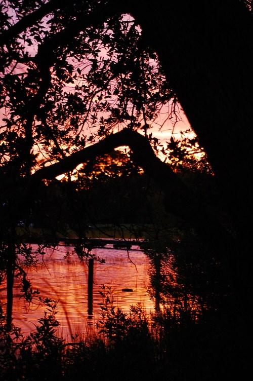 Firey sunset instead of Irene