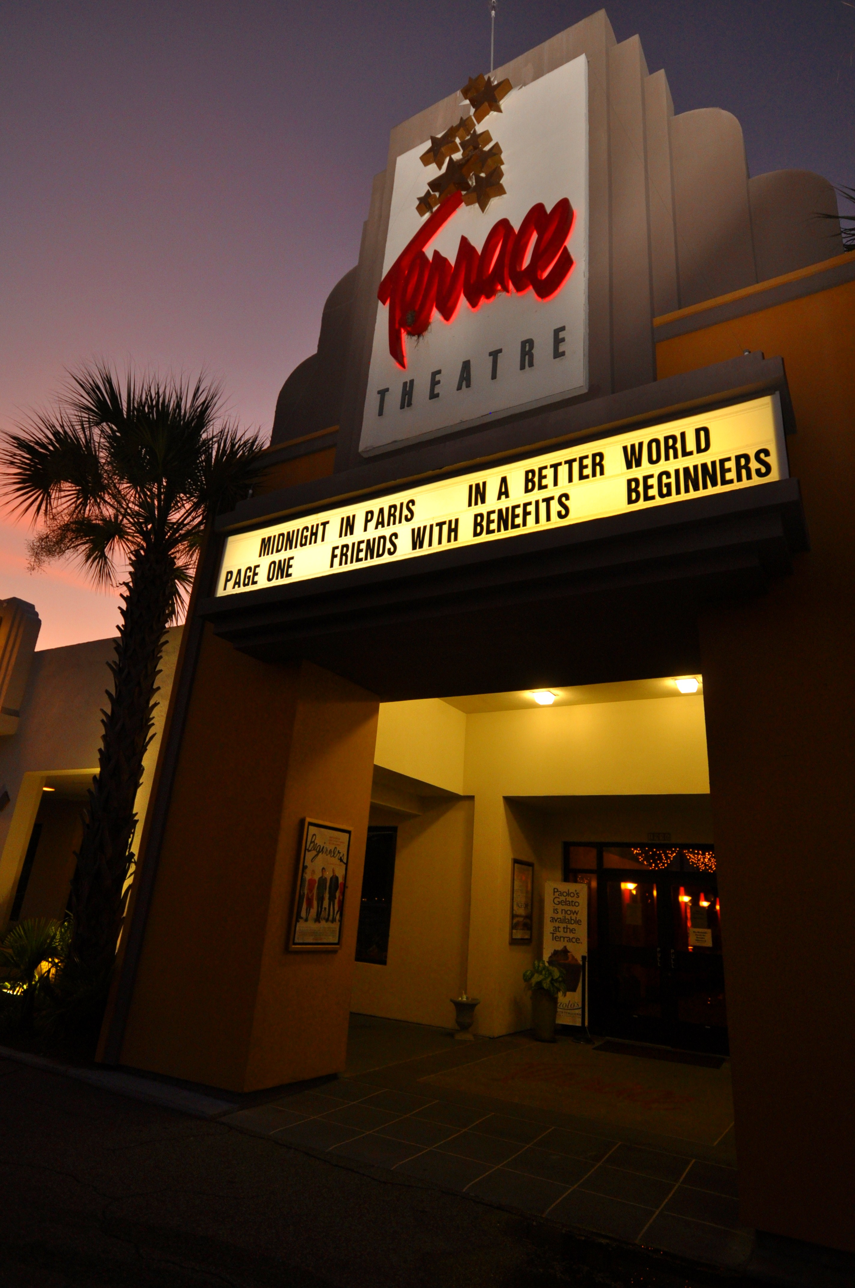 Enchanting movie enchanting theater the charleston porch for Terrace theater movies