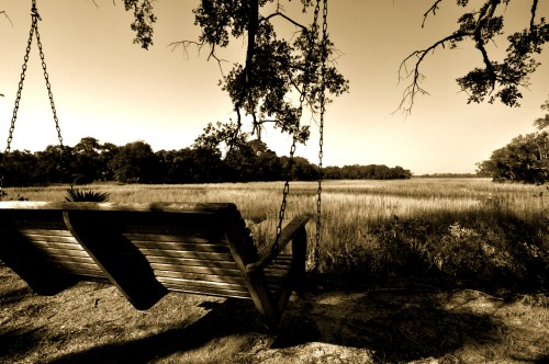 Relax on a swing