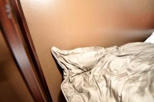 Gray, drab comforter