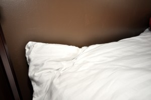 White, fresh comforter