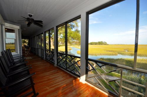 Screened porch with ocean views
