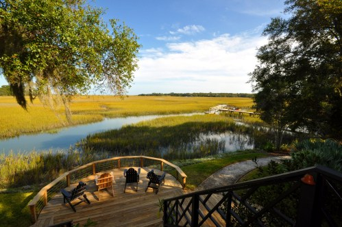 Porch views on Seabrook Island