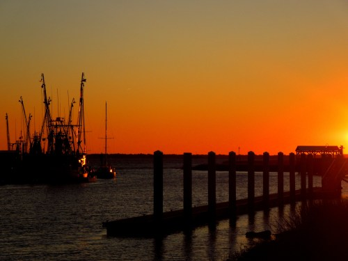 Sunset at Shem Creek Park