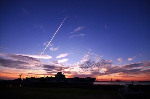 Bursting sunset over Yorktown